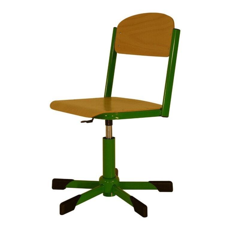 Školská  otočná stolička Trend, výškovo nastaviteľná s klzákmi
