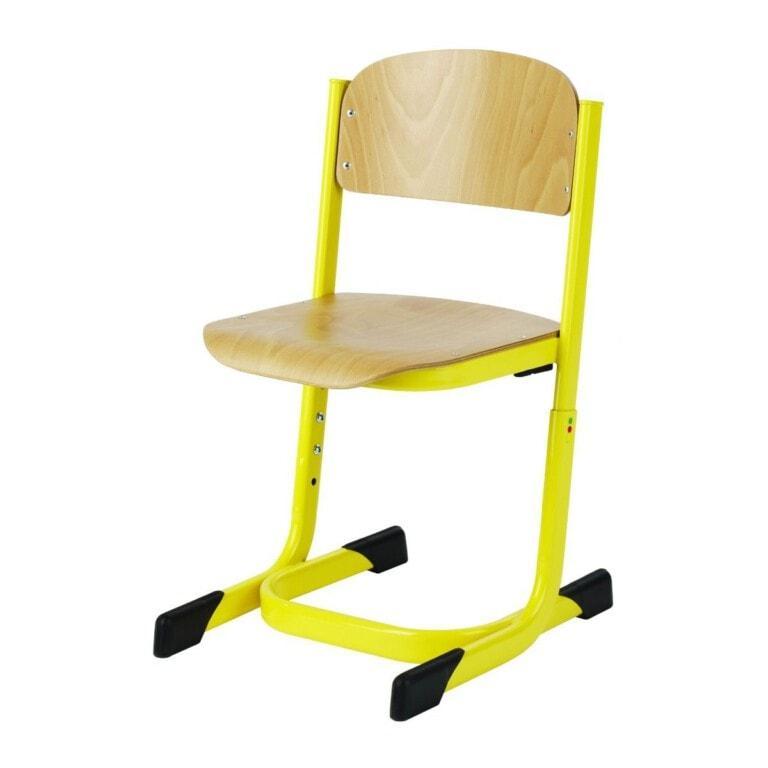 Školská stolička Prim výškovo nastaviteľná žltá
