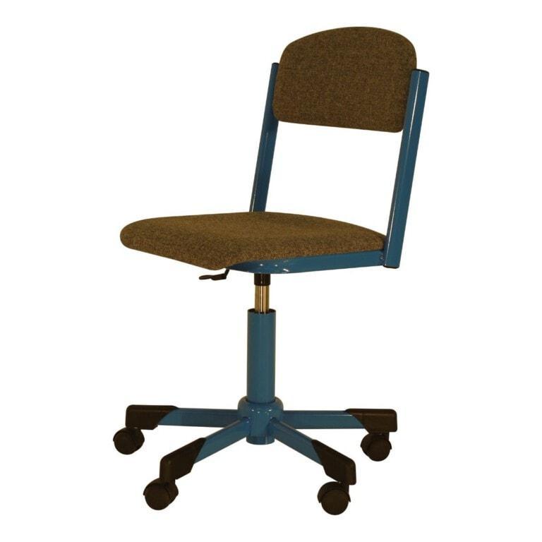 Školská otočná stolička Trend, výškovo nastaviteľná na kolieskach, čalúnená