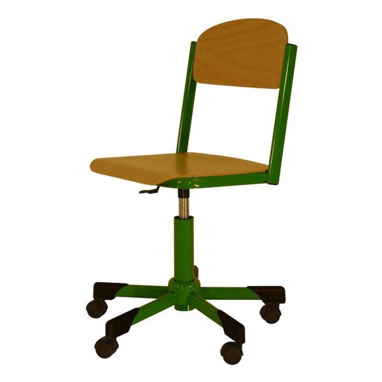 Školská  otočná stolička Trend, výškovo nastaviteľná na kolieskach