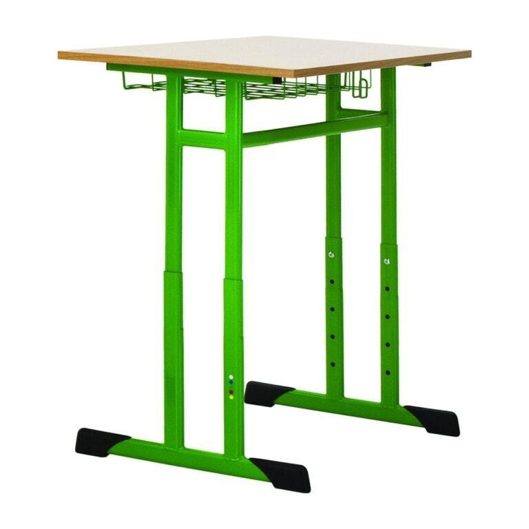 Školská jednomiestna lavica Prim, výškovo nastaviteľná zelená