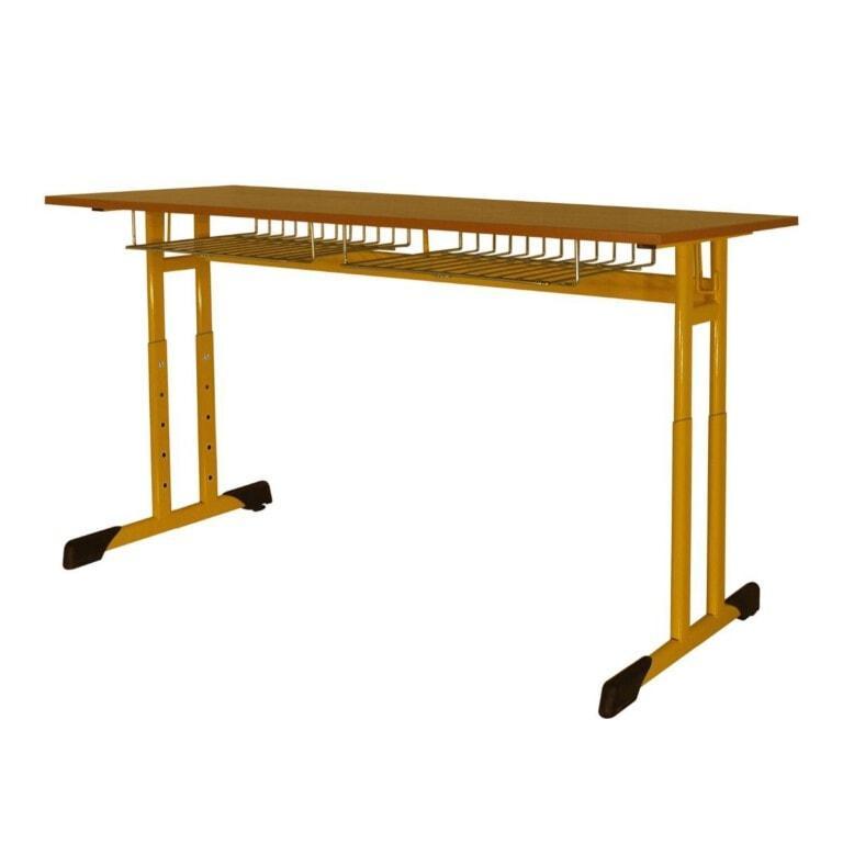 Školská jednomiestan lavica Trend, výškovo nastaviteľná, 670x500 mm žltá
