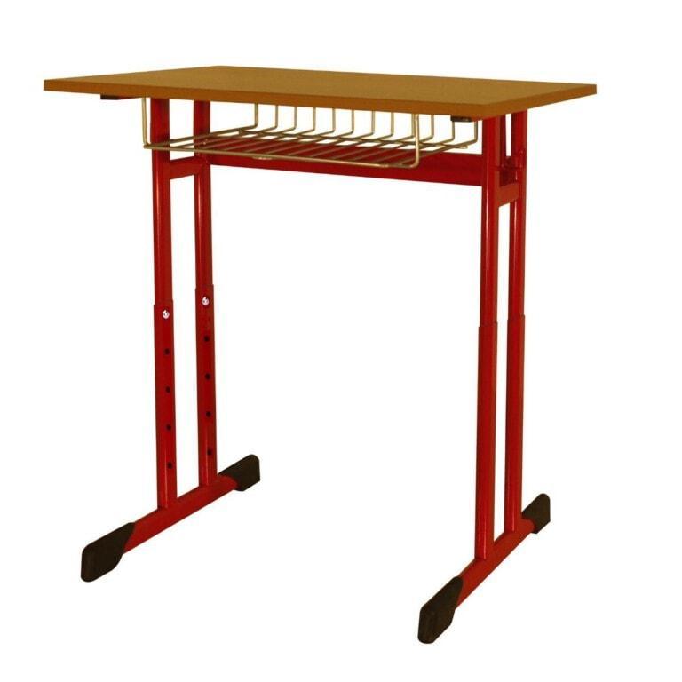 Školská jednomiestna lavica Trend, výškovo nastaviteľná, 670x500 mm červená