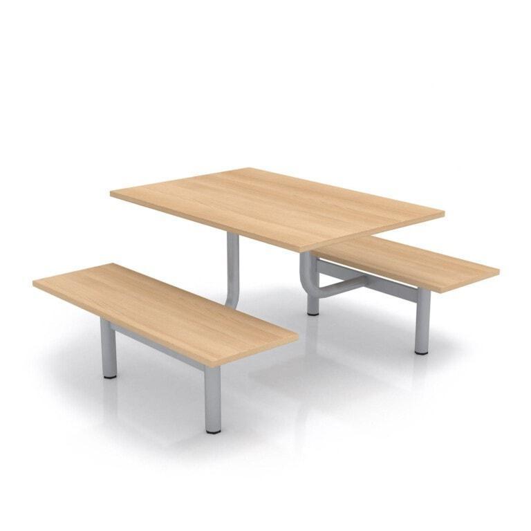 Školský jedálenský set s lavicami, doska laminát