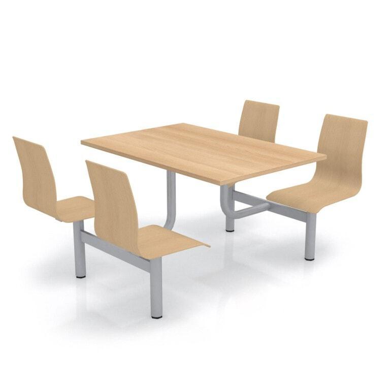 Školský jedálenský set s preglejkovými sedákmi, doska drevolaminát