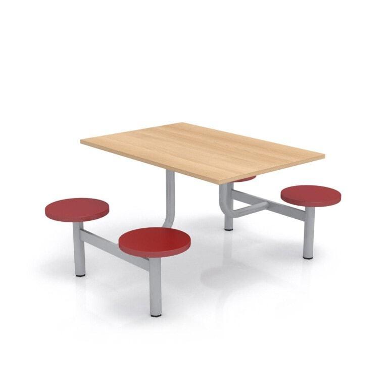 Školský jedálenský set s plastovými sedadlami, doska drevolaminát