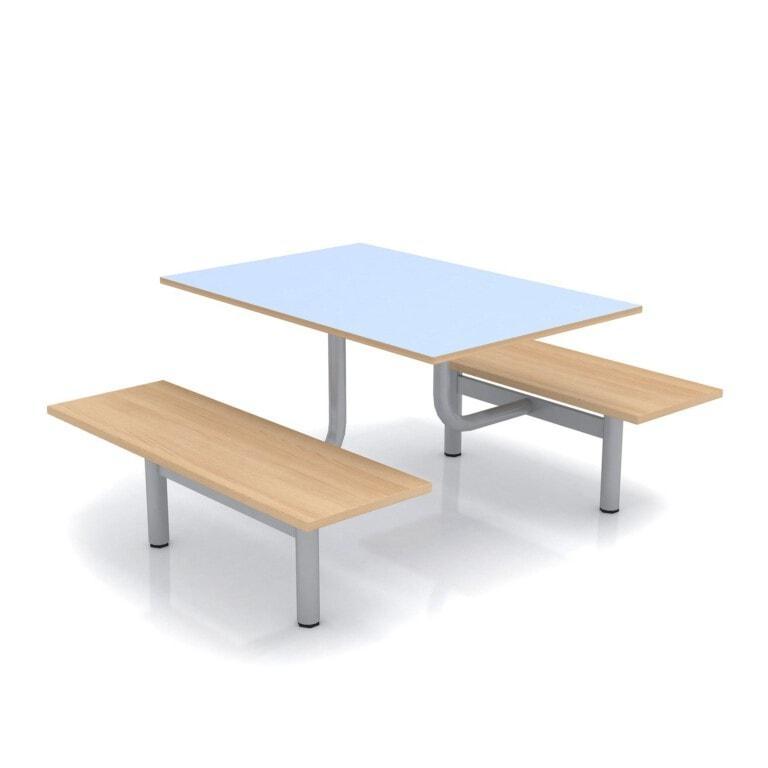 Školský jedálenský set s lavicami, doska umakart