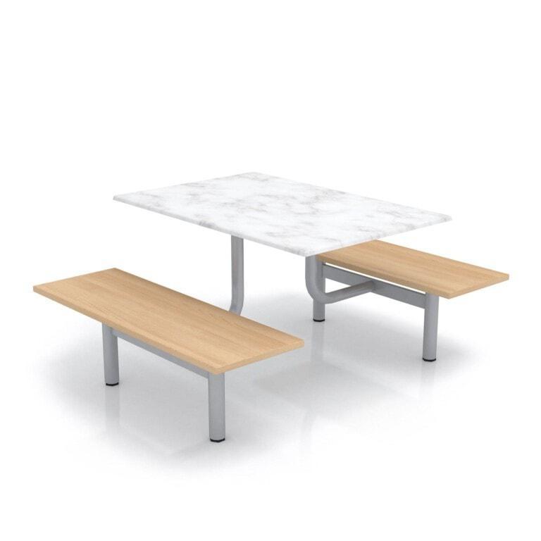 Školský jedálenský set s lavicami, doska werzalit