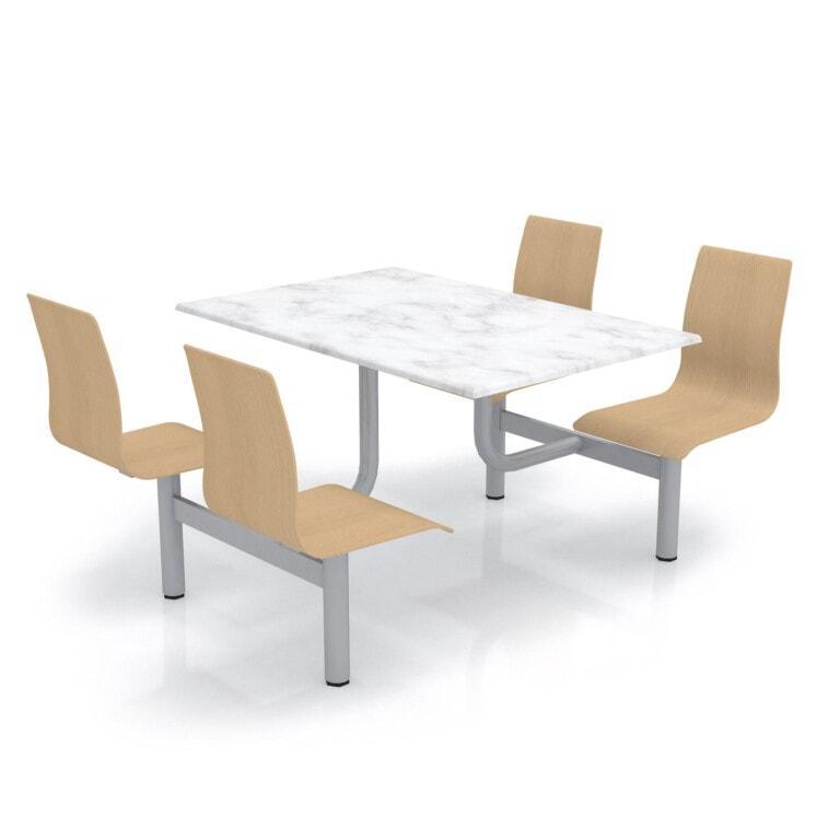 Školský jedálenský set s preglejkovými sedákmi, doska werzalit