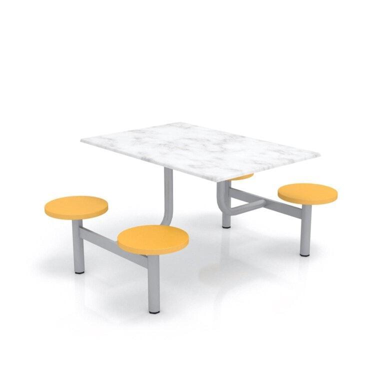 Školský jedálenský set s plastovými sedákmi, doska werzalit