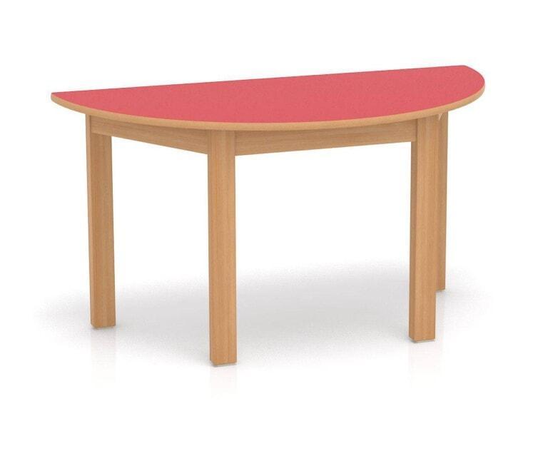 Detský stôl Fantasy polkruhový, 1200 mm