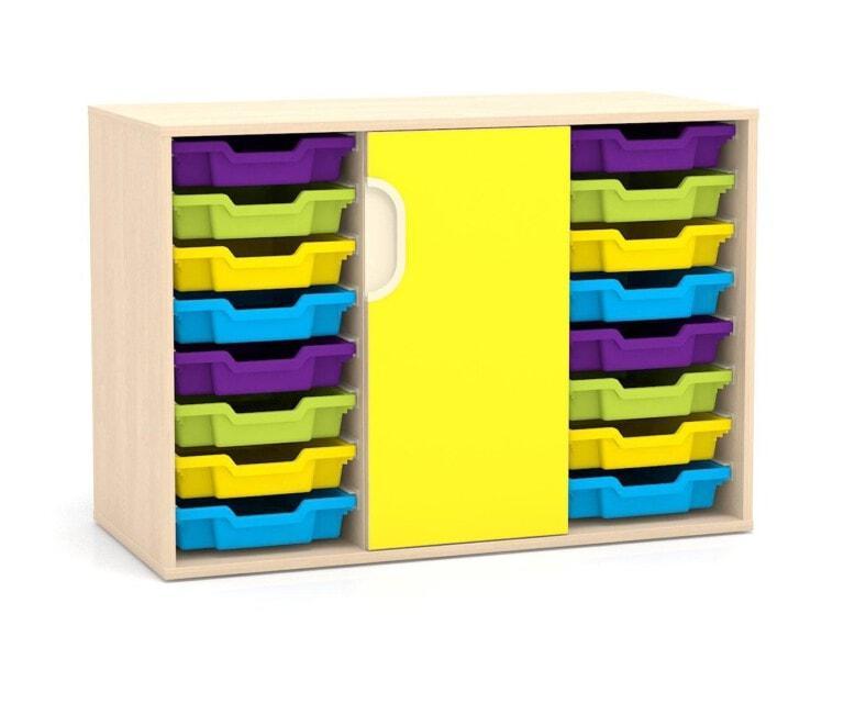 Nízka skriňa Fantasy, dvere, vodiace lišty pre boxy, 1049 mm_3