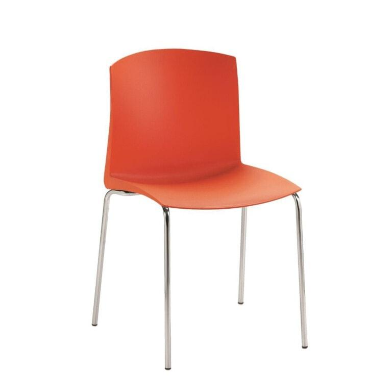 Plastová jedálenská stolička Pull