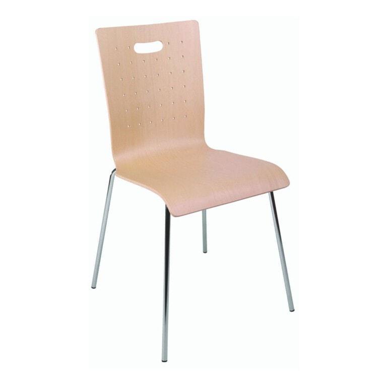 Preglejková jedálenská stolička Tulip