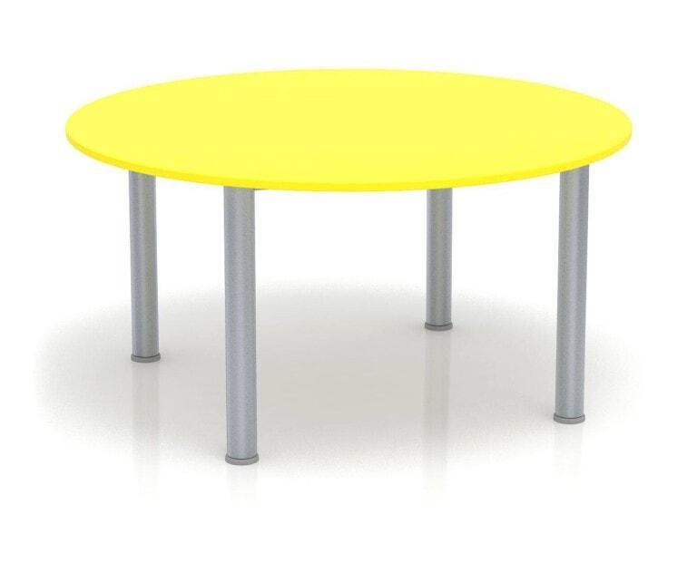 Detský stôl Fantasy kruhový, výška 600-710 mm žltá