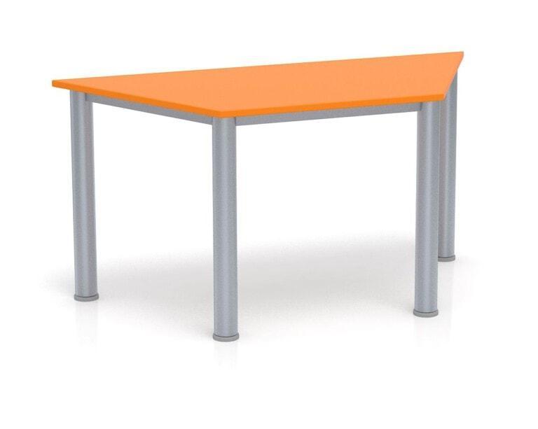 Detský stôl Fantasy lichobežník, výška 600-710 mm oranžová