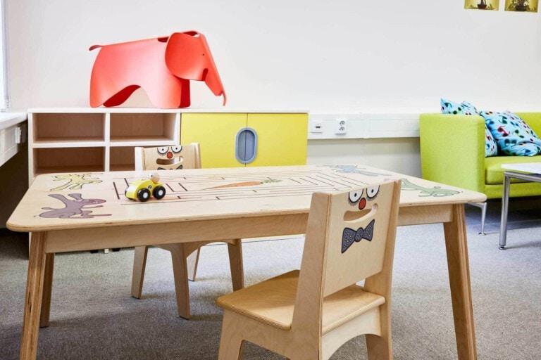Realizace MY DVA soud v Tachově - nábytek pro děti