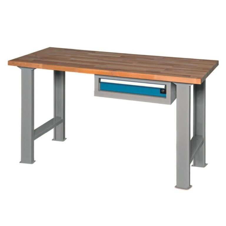 Stôl do dielne so zásuvkou - dielenský stôl