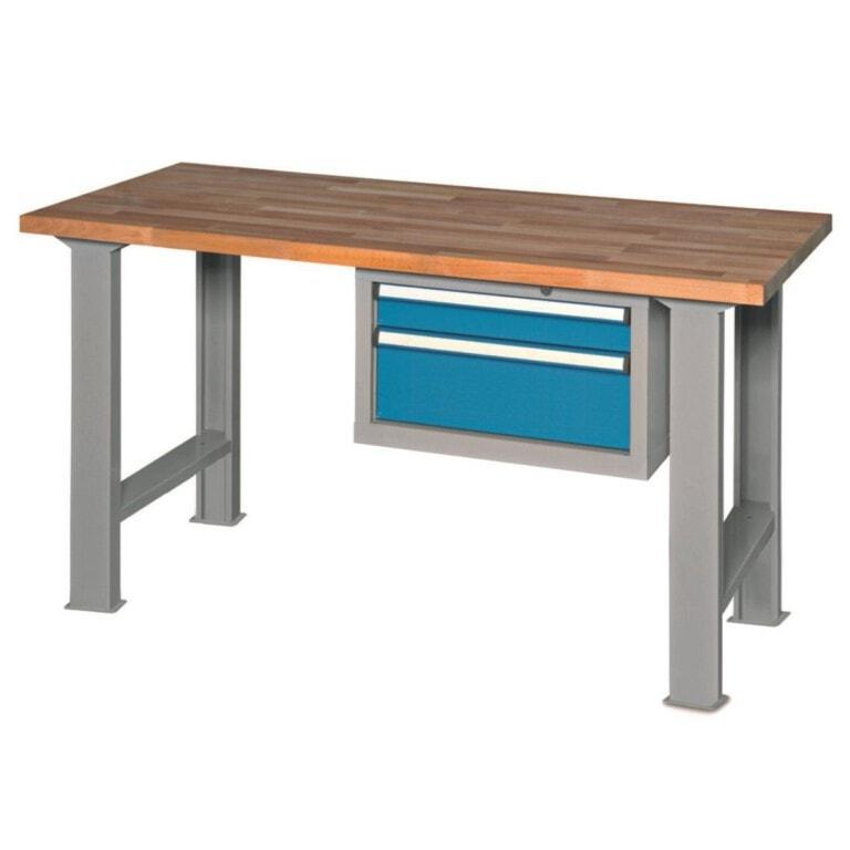 Stôl do dielne s 2 zásuvkami - dielenský stôl