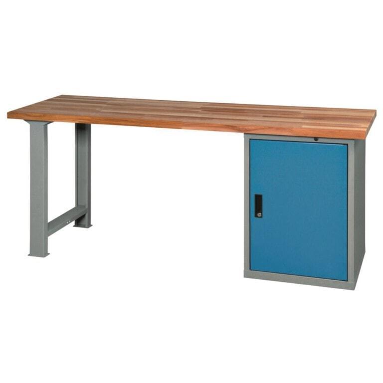 Stôl do dielne so skrinkou - dielenský stôl