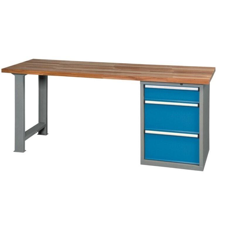 Stôl do dielne s 3 zásuvkami - dielenský stôl