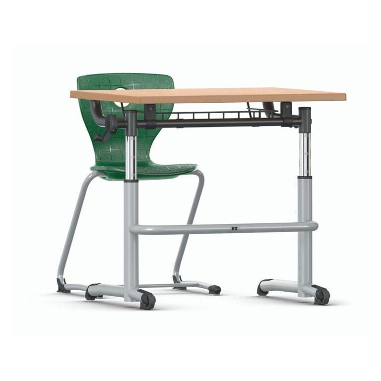 Jednomiestna nastaviteľná školská lavica Vision