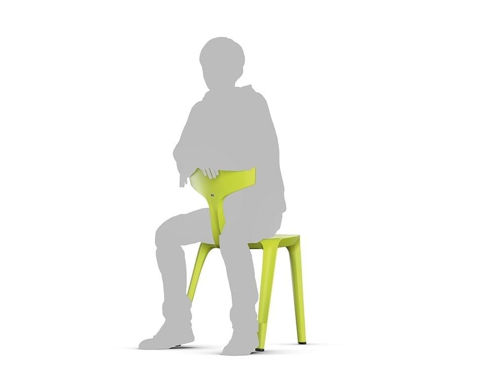 Trojnohá stolička Stakki - sedenie obrátene