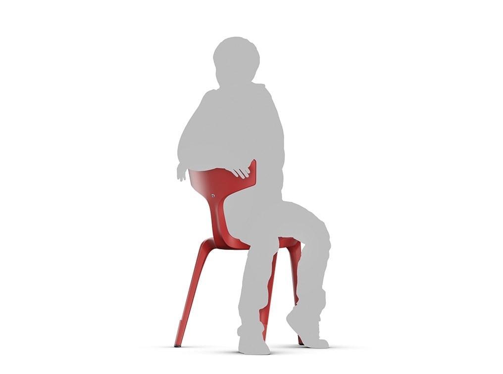 Trojnohá stolička Stakki - sedenie zo strany