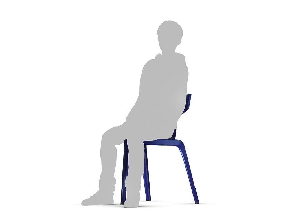 Trojnohá stolička Stakki - sedenie spredu